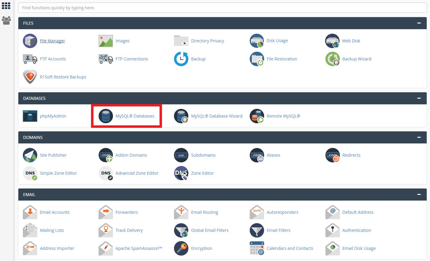 Restoring a database from backup - Base de Conhecimento - WPopt